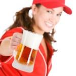 Baseball: Here's to Beer and Baseball — Stock Photo