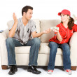 Baseball: Woman Pays off Bet to Man — 图库照片 #26148189