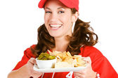 Baseball: Focus on Nacho Snack — Stock Photo