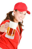 Baseball: Here's to Beer and Baseball — Stock Photo
