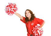 Baseball: Excited Fan Cheering Team — Stock Photo