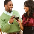 Couple: Man and Woman Share Toast — Stock Photo