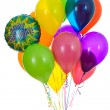 Balloons: Bunch of Happy Birthday Balloons — Stock Photo