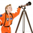 Astronaut: Astronomer Looks to Space — Stock Photo