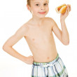 Swimmer: Ready to Eat Hot Dog — Stock Photo