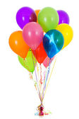 Balloons: Dozen Bright Colored Balloon Bouquet — Stock Photo