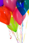 Balloons: Crop of Colorful Balloons Gathered Together — Stock Photo