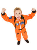 Astronaut: Boy Cheering to Go Into Space — Stock Photo