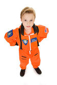 Astronaut: Serious Boy Astronaut — Stock Photo