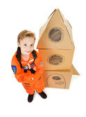 Astronaut: Ready to Take Off in Space Ship — Stock Photo