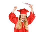 Graduate: Girl Cheers for Achievement — Stock Photo