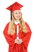 Graduate: Girl Graduate Sideways Glance — Stock Photo