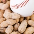 Baseball: Baseball Sitting on Peanuts — Stock Photo