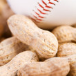 Baseball: Baseball and Peanuts — Stock Photo