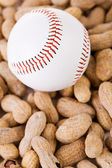 Baseball: Baseball and Peanut Snack — Stock Photo