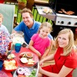 Summer: Happy Family Before Summer Dinner — Foto Stock