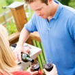 Summer: Man Pouring Glass of Wine — Stock Photo #26309793