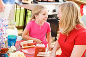Summer: Waiting to Eat Dinner on the Deck — Stock Photo