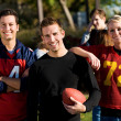 Football: Group of Football Friends Ready to Play — Stock Photo