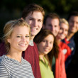 Stock Photo: Football: Group of Friends Looking at Camera