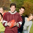 Football: Football Friends Together in Park — Stock Photo