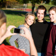 Stock Photo: Football: Friends Have Picture Taken