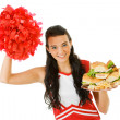 Cheerleader: — Stock Photo