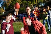 Football: Boys Versus Girls Game — Stock Photo