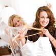 Bridal Shower: Happy Bride with Gown — Stock Photo