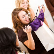 Stock Photo: Bridal Shower: Bride Gets Lingerie from Friend