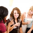 Bridal Shower: Party Guests with Champagne — Stock Photo