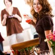 Bridal Shower: Woman Holding Glass of Punch — Stock Photo #27514527