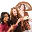 Bridal Shower: Party Guests Having Drinks and Snacks — Stock Photo #27514625