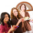 Stock Photo: Bridal Shower: Party Guests Having Drinks and Snacks