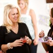 Stock Photo: Baby Shower: Having Snacks After Party