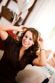 Bridal Shower: Woman Has Bridal Tiara — Stock Photo