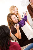 Bridal Shower: Bride Gets Lingerie from Friend — Stock Photo