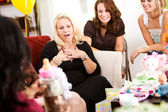 Baby Shower: Mom Gets Gift of Money — Stock Photo