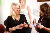 Baby Shower: Having Snacks After Party — Stock Photo