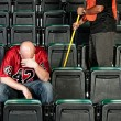 Fans: Upset Football Fan After Game — Stock Photo