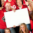 Stock Photo: Fans: Holding a Blank Sign at Game