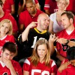 Fans: Visiting Team Fan Wins Bet — Stock Photo