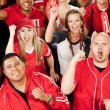 Stock Photo: Fans: Exctied Fans Cheer for Team