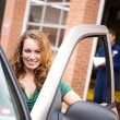 Mechanic: Customer Satisfied with Result — Stock Photo