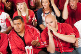 Fans: Fans Boo a Play on the Field — Stock Photo