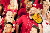 Fans: Man Wanting to Catch a Ball — Stock Photo