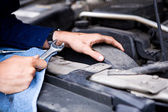 Mechanic: Ready to Do Repairs — Stock Photo