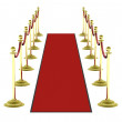Stock Photo: 3d: Red Carpet