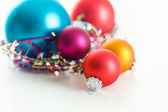 Christmas: Ornaments on White Background — Stock Photo