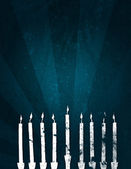 Holiday: Hanukkah Grunge Background — Stock Photo